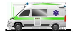 Ambulanza da Trasporto su cellula